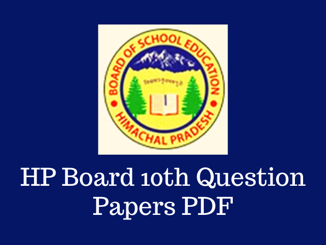 HP Board 10th Question Papers