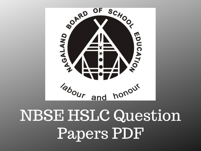 NBSE HSLC Question Papers