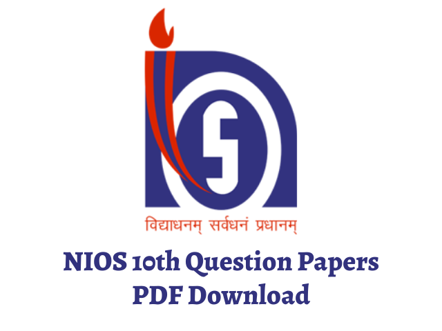 NIOS 10th Question Papers