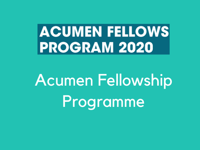 Acumen Fellowship