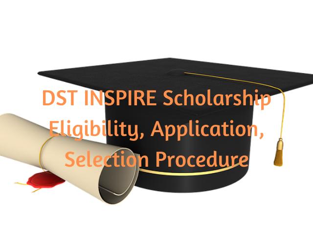 DST INSPIRE Scholarship