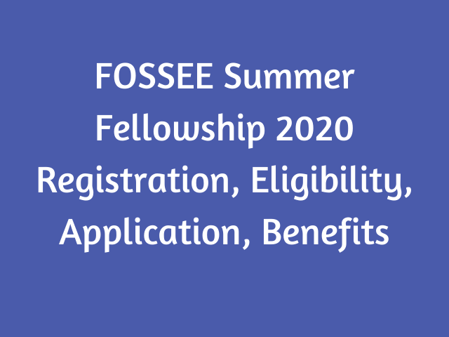 FOSSEE Summer Fellowship