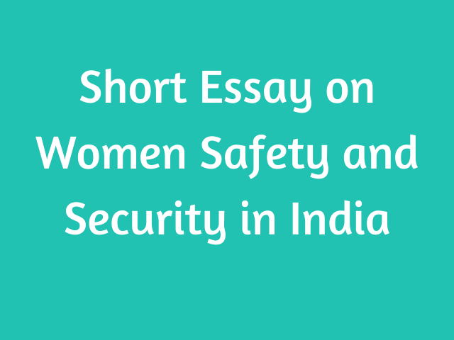 Women Safety essay