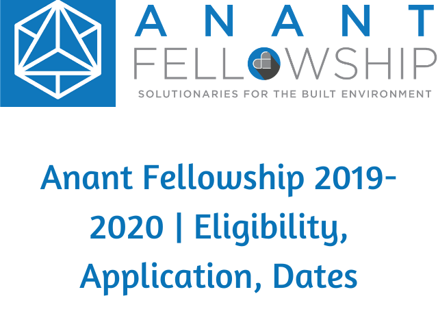 Anant Fellowship 2020