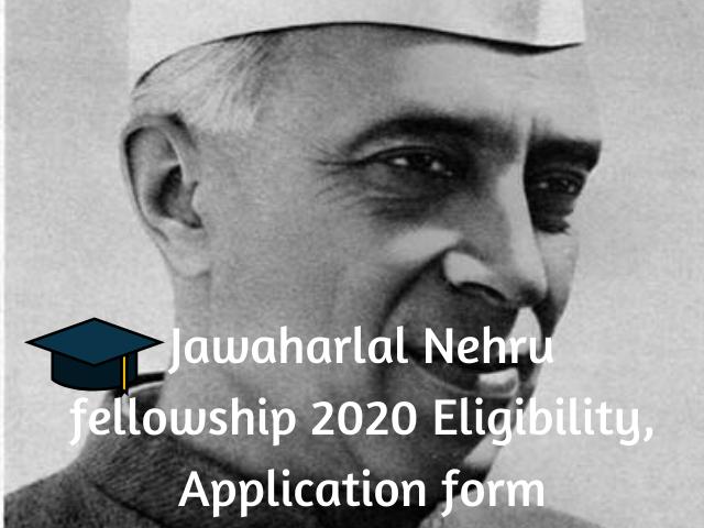 Jawaharlal Nehru fellowship
